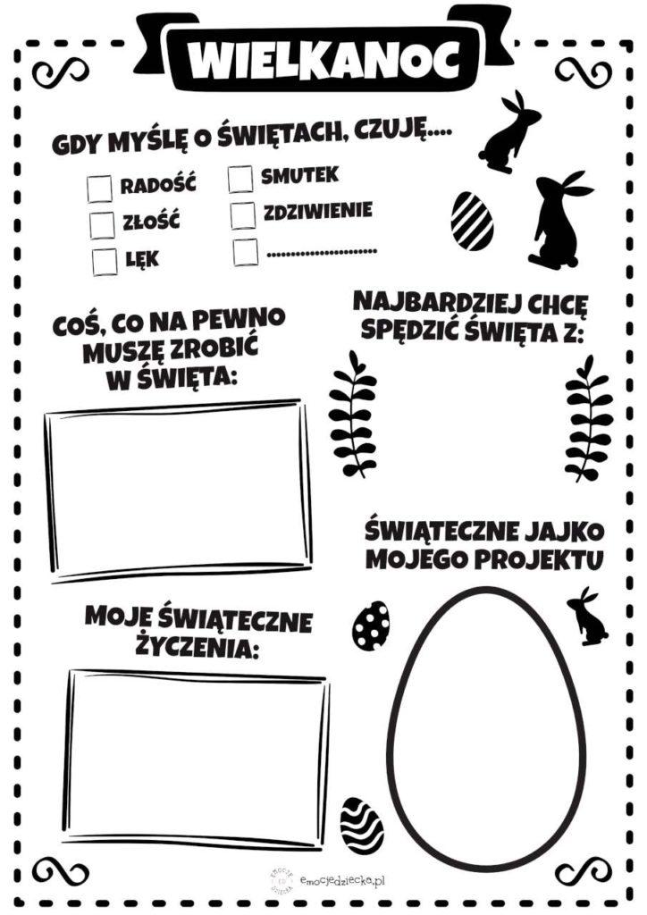 emocje dziecka karta wielkanoc 1